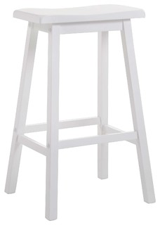 "Gaucho 24"" Counter Height Stool, White, Set of 2"