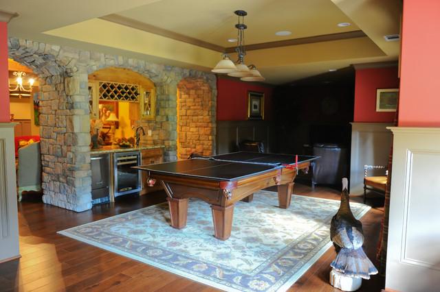 Hunting Lodge Basement  Rustic  Basement  Atlanta  by Ashley Taylor Home LLC