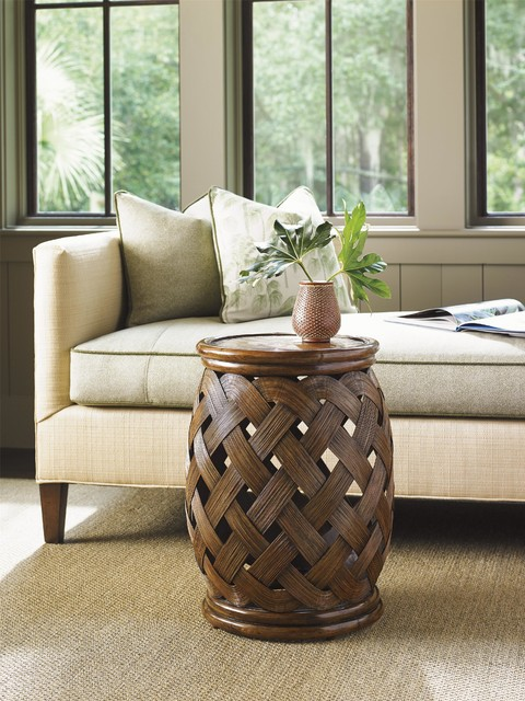 tommy bahama living room idea images home bali hai hibiscus round accent table ...