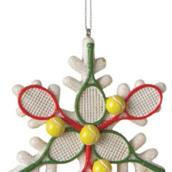 White Distressed Dining Chairs Best Chair For Pc Gaming 2016 Midwest-cbk Tennis Racquet Snowflake Christmas Tree Ornament - Sports Holiday Decoration ...