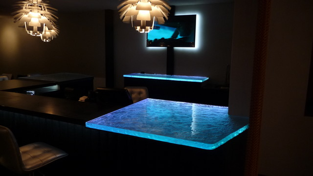 Inspired LED Color Changing RGB Illuminated Glass Counter Tops And TV Backlight Phoenix By