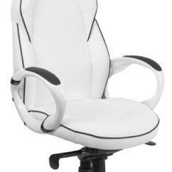 Contemporary Office Chairs Teal Velvet Chair High Back White Vinyl Executive Swivel With Black Trim By Ergode