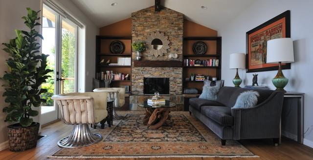 Modern Rustic Living Room  Transitional  Living Room