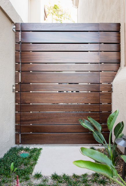 wood lawn chairs where to buy rocking chair modern planks side gate - contemporary landscape orange county by studio h ...