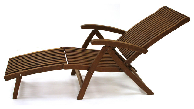 outdoor chaise lounge chair with ottoman drop leaf table and chairs eucalyptus venetian steamer craftsman