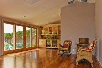 Family room with new vaulted ceiling - Eclectic - Family ...
