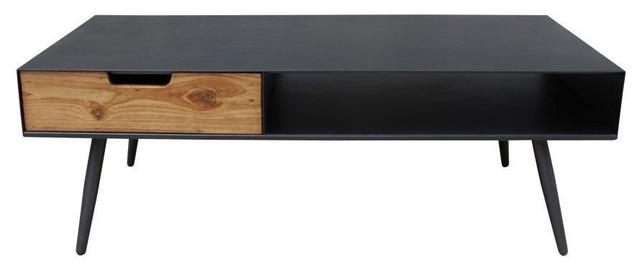 milleto black mid century coffee table
