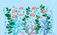 Coral Reef Decals - Coral Wall Decal- Under the Sea Decals ...