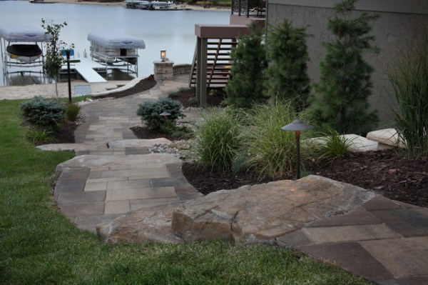 lakefront property - traditional