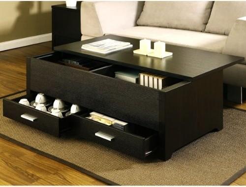 Garretson Storage Box Coffee Table, Espresso Finish