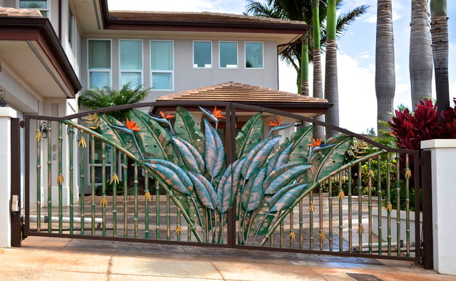 Tropical Entry Gates Tropical Exterior Hawaii By Fusion Art 808