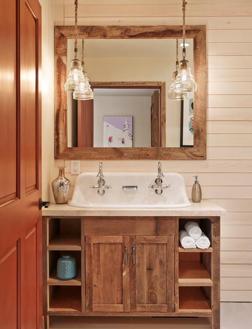 Aspen Mountain Modern  Rustic  Bathroom  Houston  by