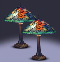 Tiffany-style Golden Poppy Table Lamps (Set of 2 ...