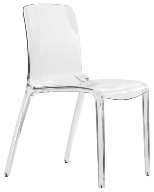 plastic see through chair how to clean an upholstered leisuremod murray lucite stackable molded dinin side dining clear