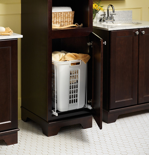 Laundry Hamper Pull Out  Bathroom Vanities And Sink Consoles  Minneapolis  by Mid Continent