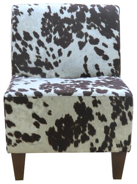 brown slipper chair yoga seniors penelope armless cowhide contemporary