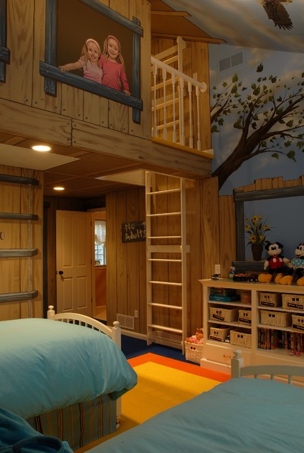 Tree House Bedroom Eclectic Kids Minneapolis By Gabberts
