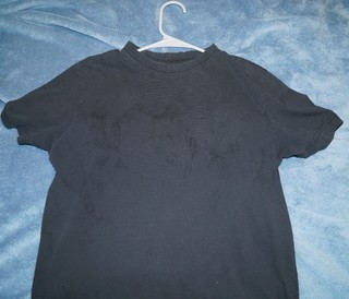 Weird stains on dark clothes after washing