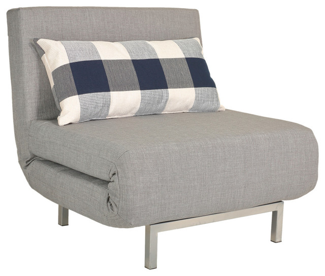 sleeper chair revolving chairs online pakistan savion convertible accent bed gray contemporary
