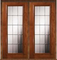 Prehung Exterior Double Door 80 Alder French Full Lite ...