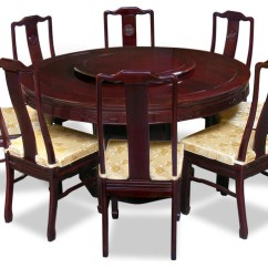 Round Table 8 Chairs Diy Fabric High Chair 60 Rosewood Longevity Design Dining With