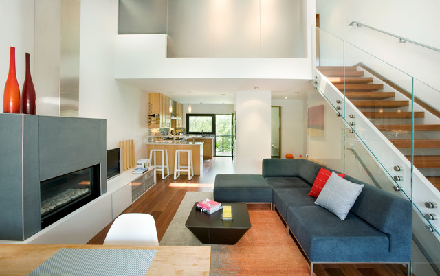 Rowhouse Contemporary Living Room Denver By S2 Architects