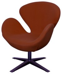 Beckett Fabric Swivel Chair, Earthy Red - Midcentury ...