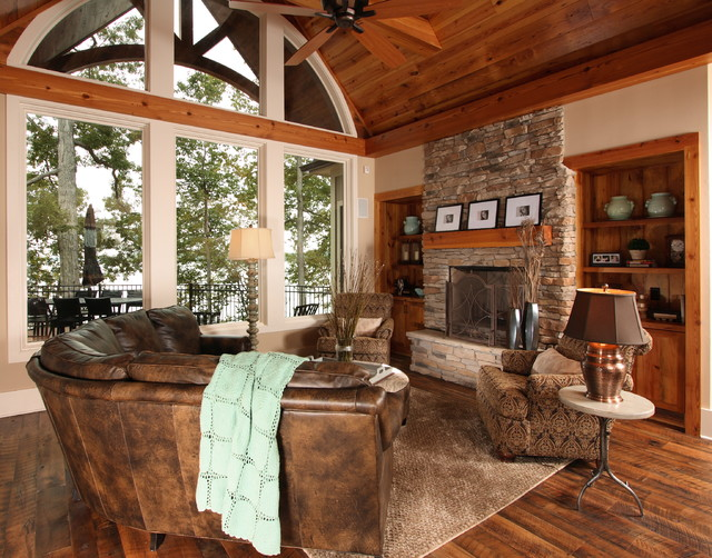 Lake House Traditional Family Room Raleigh By Southern