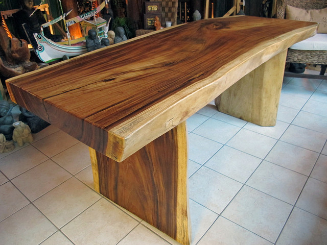 "Natural Edge Dining Table Or Office Desk, 32"" X 6'-7"" X 31"