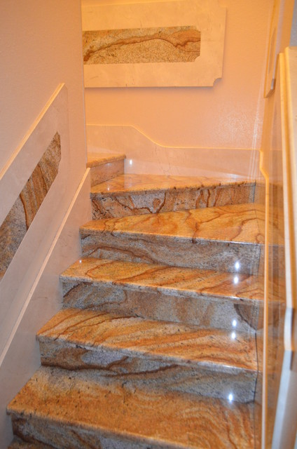 stairs marblegranite  Mediterranean  Staircase  Tampa