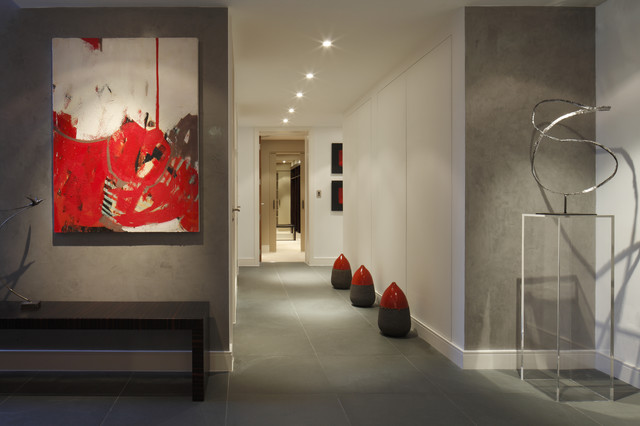Urban Penthouse Hallway  Modern  Hall  London  by