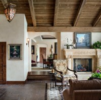 Spanish Home in Rancho Santa Fe - Mediterranean - Living ...