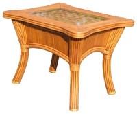 Kingston Reef End Table in Cinnamon - Tropical - Side ...