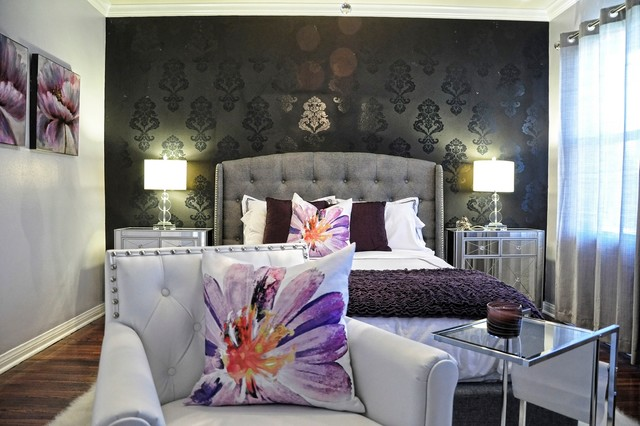 Hollywood Glam Master Bedroom Bedroom Los Angeles By