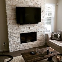 Stacked Ledge Stone Fireplace. Stone is Cultured Stone ...