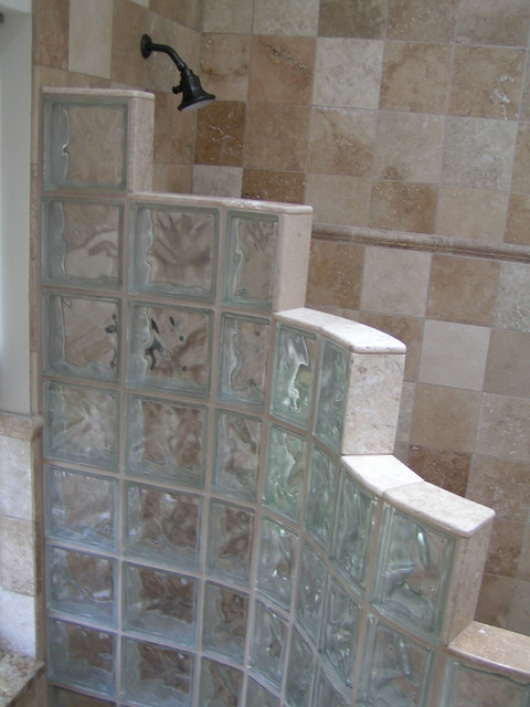 floor tile designs for small living rooms room paint colors ideas master bath - glass block