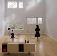Maple Wood Floors-Wide Plank - Midcentury - Living Room ...