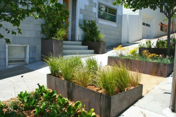 ten planter boxes - contemporary