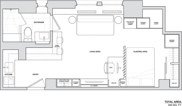 Micro-apartment contemporary-floor-plan