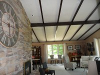What to do with real stucco ceilings