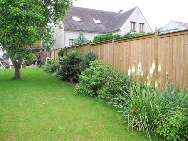 bois pour delimiter son jardin