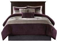 Microsuede Pieced Comforter 7 Piece Set - Contemporary ...