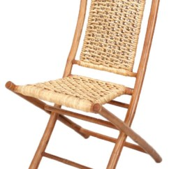 Bamboo Folding Chair Wrought Iron Chaise Lounge Chairs Makaha With Open Link Water Hyacinth Weave Asian And Stools By Virventures