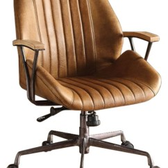 Leather Executive Office Chair Pedicure Manufacturers Metal And Coffee Brown Industrial Chairs By Benzara Woodland Imprts The Urban Port