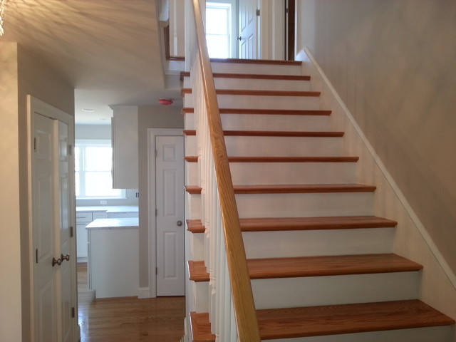 Small Lot 3 Level Beach House Beach Style Staircase Boston