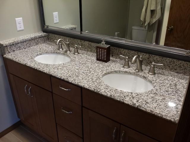 Tiger Skin Granite Countertops  Modern  Bathroom  Cedar Rapids  by PrimoTops LLC