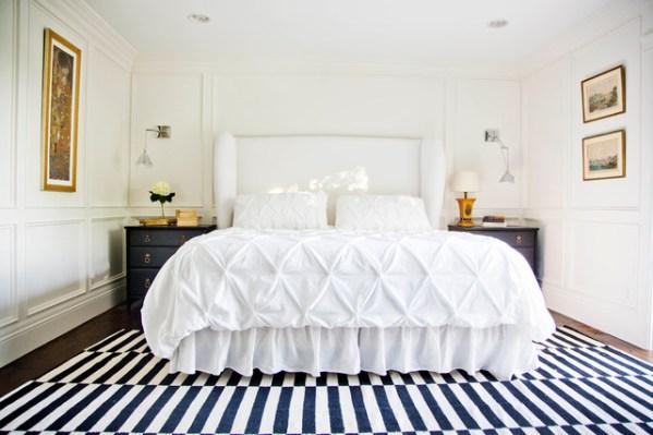 gold and white master bedroom GRAPHIC MASTER BEDROOM - Transitional - Bedroom - Salt