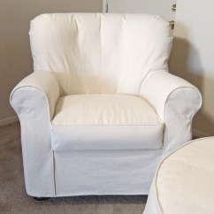 Club Chair Covers Two Seater Dining Table And Chairs India Natural Denim Armchair Slipcover Traditional Slipcovers Other