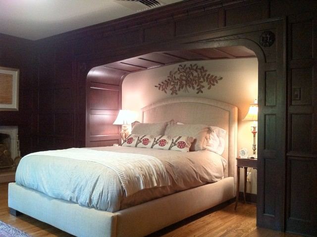 furniture ideas for living room alcoves wood tudor style bed alcove - traditional bedroom cedar ...