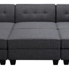 Harper Fabric 6 Piece Modular Sectional Sofa Making Covers At Home Vendome Gray Contemporary
